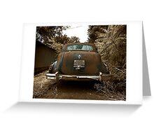 Abandoned 1948 Cadillac Limo Greeting Card
