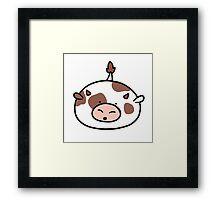 Cow Blob Framed Print