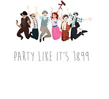 Party Like It's 1899 - for white things! by makjesdewafflus