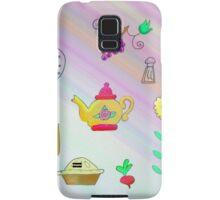 Teapot and pie Samsung Galaxy Case/Skin