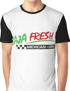 BAJA Fresh Mexico Grill Taco Graphic T-Shirt