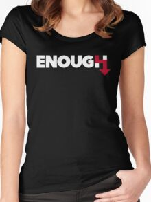 ENOUGH Women's Fitted Scoop T-Shirt