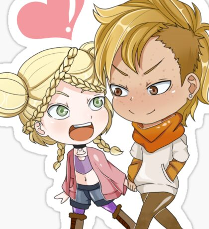 Commission Stickers: Kenny and Joline Sticker