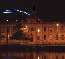 Tasmanian Museum at Night by Derwent-01
