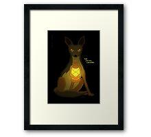 The Jackal Lantern Framed Print