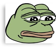 RARE PEPE Sad Frog Canvas Print