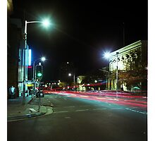 Light trails through a Rolleicord Photographic Print