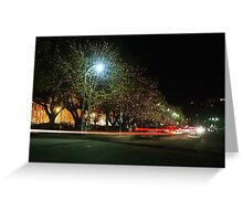 Salamanca Light Trails Greeting Card
