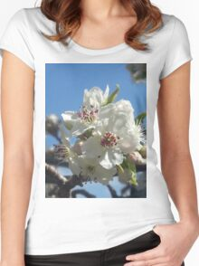 White blossoms Women's Fitted Scoop T-Shirt