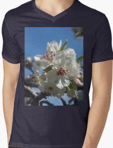 White blossoms Mens V-Neck T-Shirt