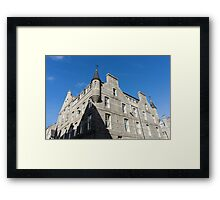 Silver City Architecture - Aberdeen Granite Facade with a Whimsical Tower Framed Print