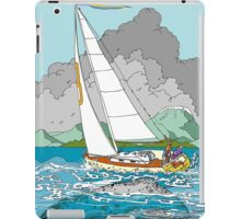 Sailing past Whales iPad Case/Skin