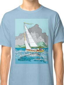 Sailing past Whales Classic T-Shirt