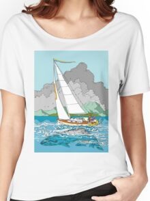 Sailing past Whales Women's Relaxed Fit T-Shirt