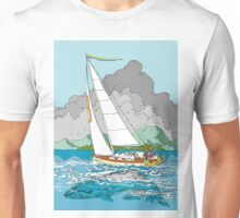Sailing past Whales Unisex T-Shirt