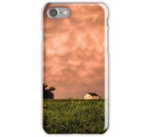 Golden Hour Mammatus Clouds iPhone Case/Skin