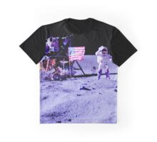 John Young Walkning On The Moon Graphic T-Shirt
