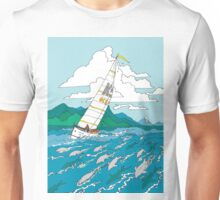 Sailing with the dolphins Unisex T-Shirt