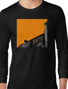 Powerhouse Wall | Orange Long Sleeve T-Shirt
