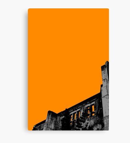 Powerhouse Wall | Orange Canvas Print
