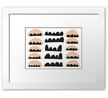 Over Hills Framed Print