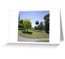 Flower Clock and Lawns, Hobart Botanical Gardens Greeting Card