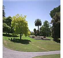 Flower Clock and Lawns, Hobart Botanical Gardens Photographic Print
