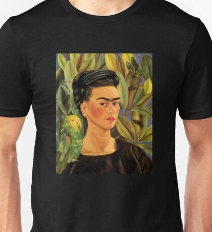 Frida Kahlo Self-portrait with Bonito Unisex T-Shirt