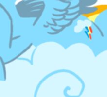 Rainbow Dash with Cloud Sticker