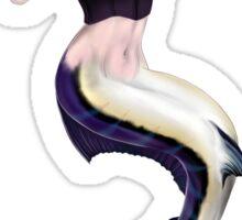 Black Marlin Mermaid Sticker