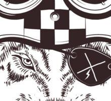 Vintage wolf motorcycle logo Sticker