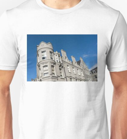Silver City Architecture - Crenellated Castle Style Facade in Aberdeen  Unisex T-Shirt