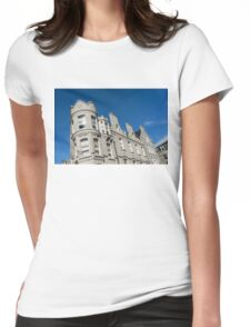 Silver City Architecture - Crenellated Castle Style Facade in Aberdeen  Womens Fitted T-Shirt