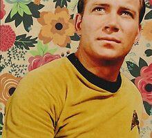 Star Trek Kirk Floral Collage by deepspacequeer