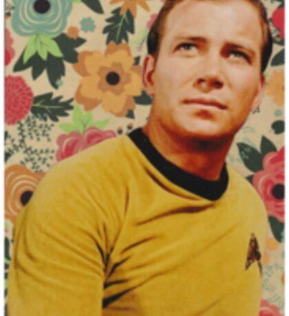 Star Trek Kirk Floral Collage Sticker