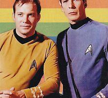 Star Trek Kirk/Spock Collage by deepspacequeer