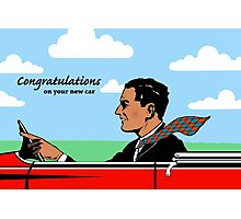 Congratulations on New Car, Flying Necktie Photographic Print
