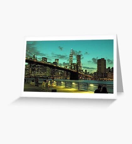 Brooklyn Bridge and Manhattan Greeting Card