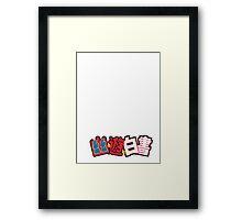 yu yu hakusho logo 02 Framed Print