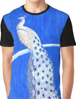 Blue Willow Peacock Graphic T-Shirt