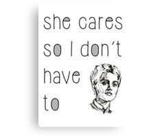 She Cares Canvas Print