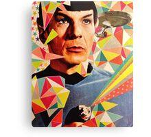 Star Trek Spock Geometric Collage Metal Print