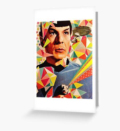 Star Trek Spock Geometric Collage Greeting Card