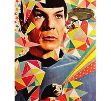 Star Trek Spock Geometric Collage Photographic Print