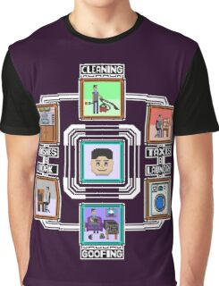 Stage Select Pixel Art Graphic T-Shirt
