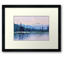 Calm Peaceful Blue Mountain Waters  Framed Print