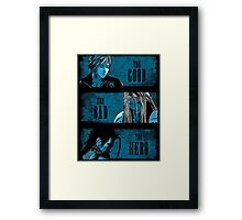 The Good the Bad and the Hero (Blue version) Framed Print