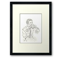 Mark C. Merchant brand doodle and writing Framed Print