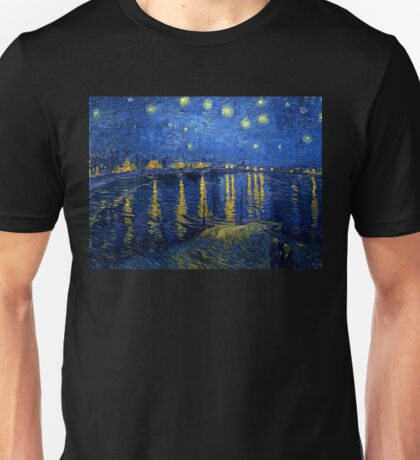 Starry Night Over the Rhone Unisex T-Shirt