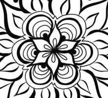Color Your Own - Bursting Flower Sticker
